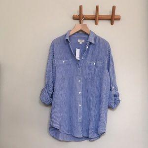 LOFT Outlet striped shirt